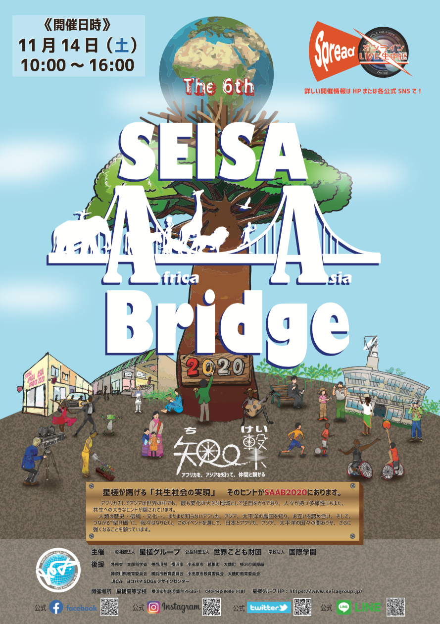 11月14日(土)開催決定!「第6回SEISA Africa Asia Bridge2020」