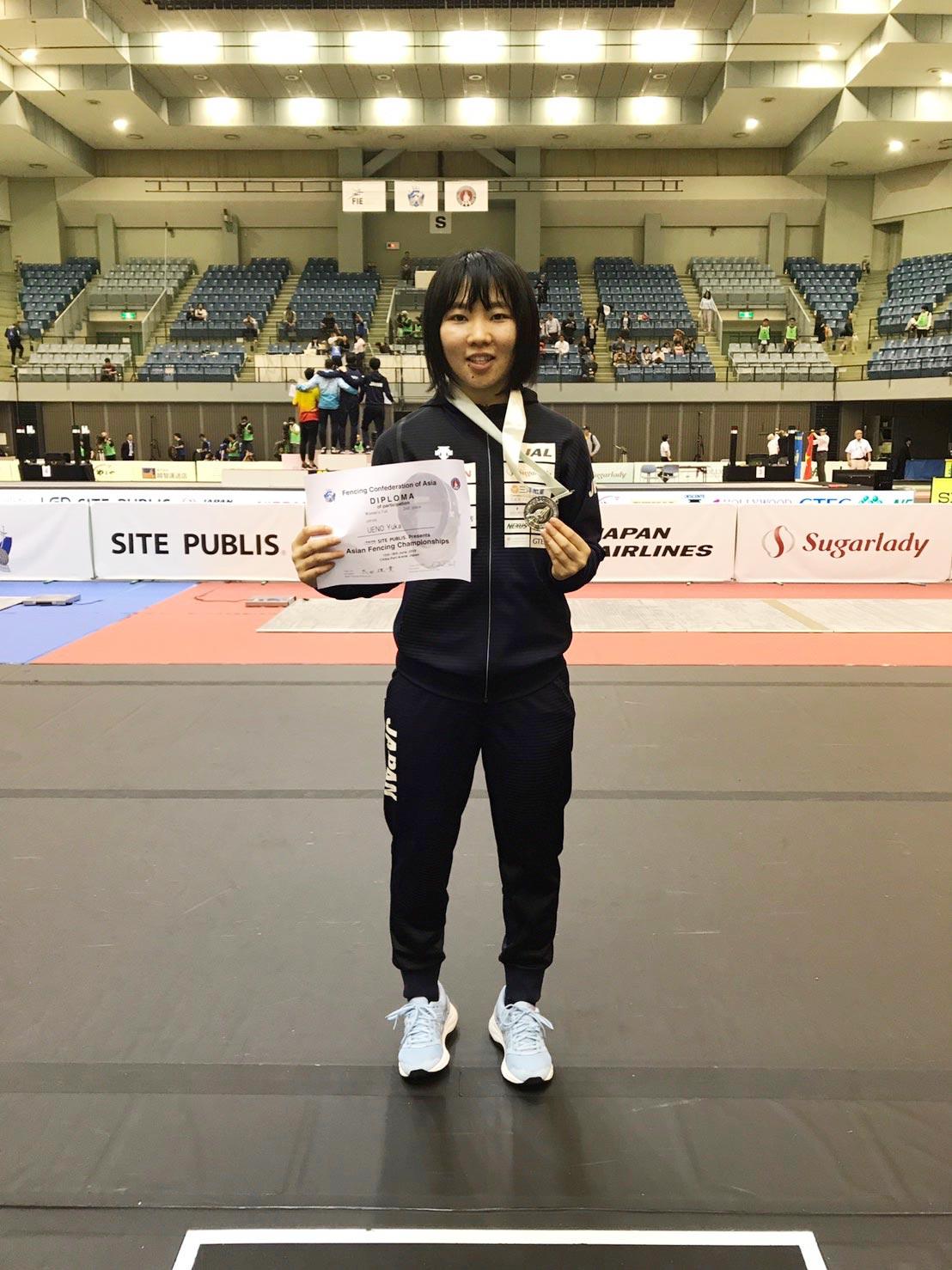 星槎国際高校川口3年の上野優佳さんが、見事、銀メダルを獲得。