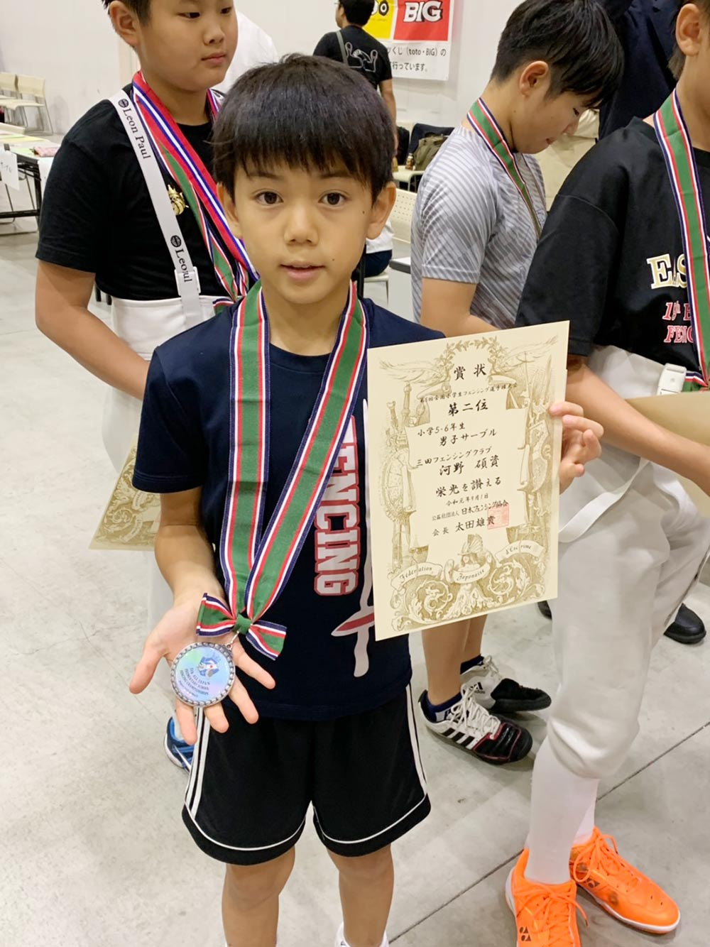 PAL Kawaguchi小学生フェンサーが全国大会で上位独占!1