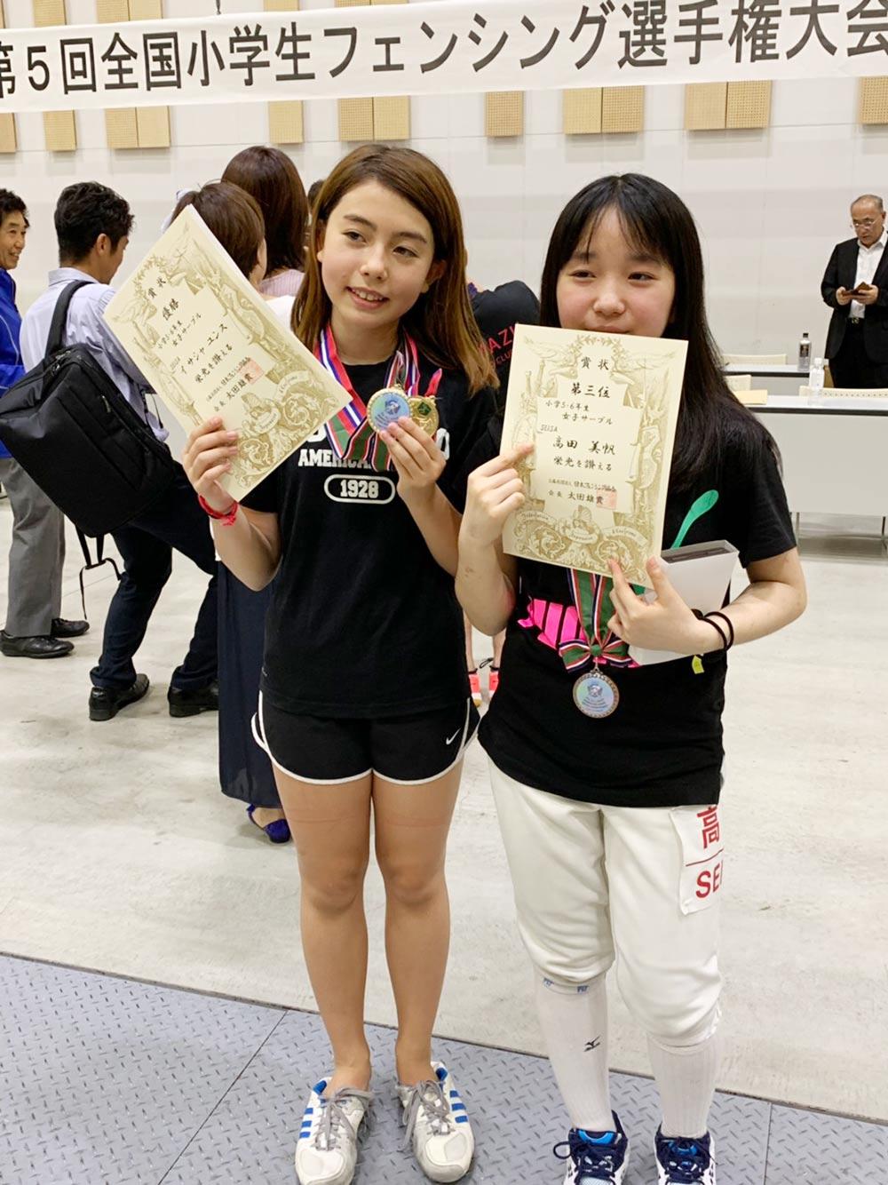 PAL Kawaguchi小学生フェンサーが全国大会で上位独占!2