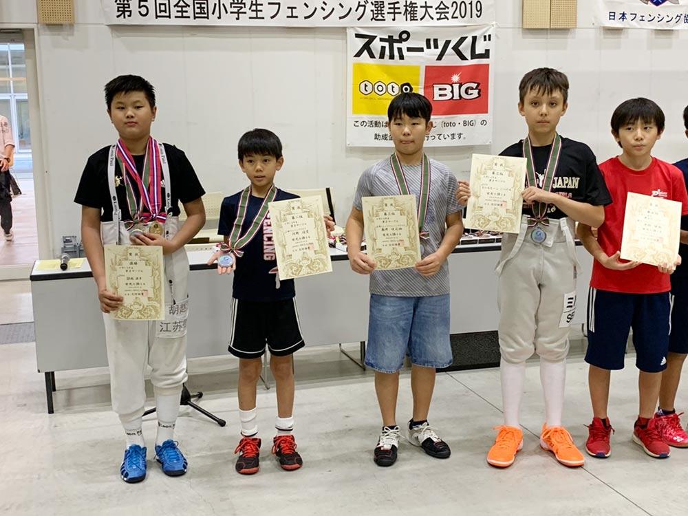 PAL Kawaguchi小学生フェンサーが全国大会で上位独占!3