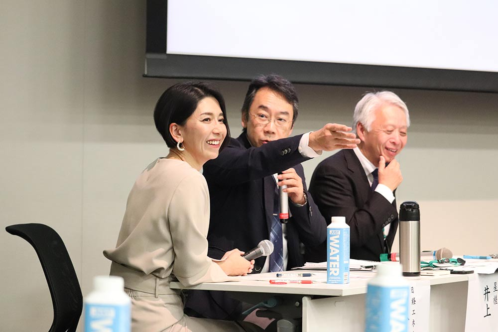 """RE Action For Teachers""シンポジウム 星槎の活動を熱く語る井上本部長"