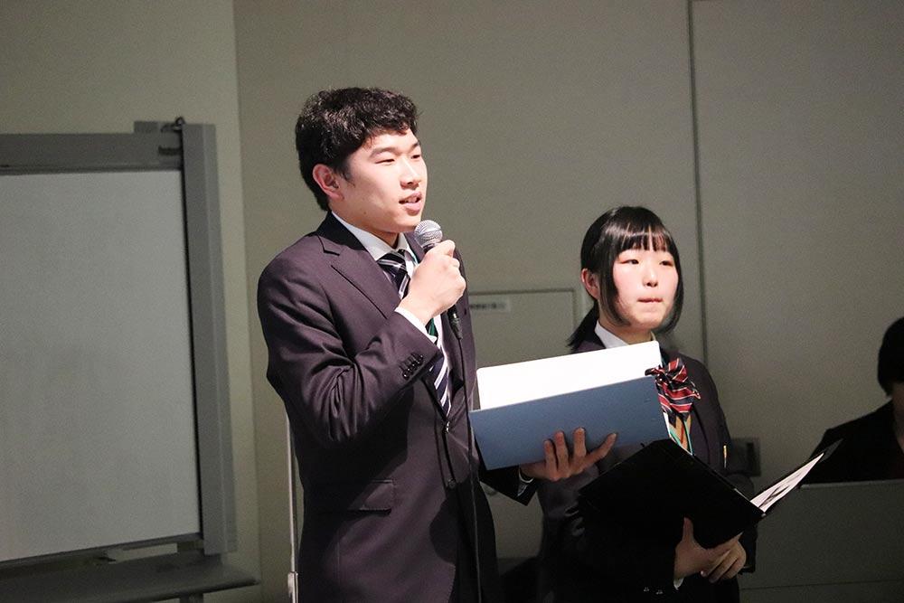 """RE Action For Teachers""シンポジウム 星槎学園北斗校卒業生の河野航大さん"