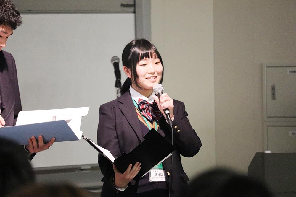 """RE Action For Teachers""シンポジウム 星槎国際広島 3年の石岡莉沙さん"