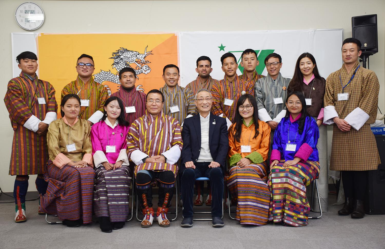 ブータンからのRTC留学生が星槎グループ各事業と交流