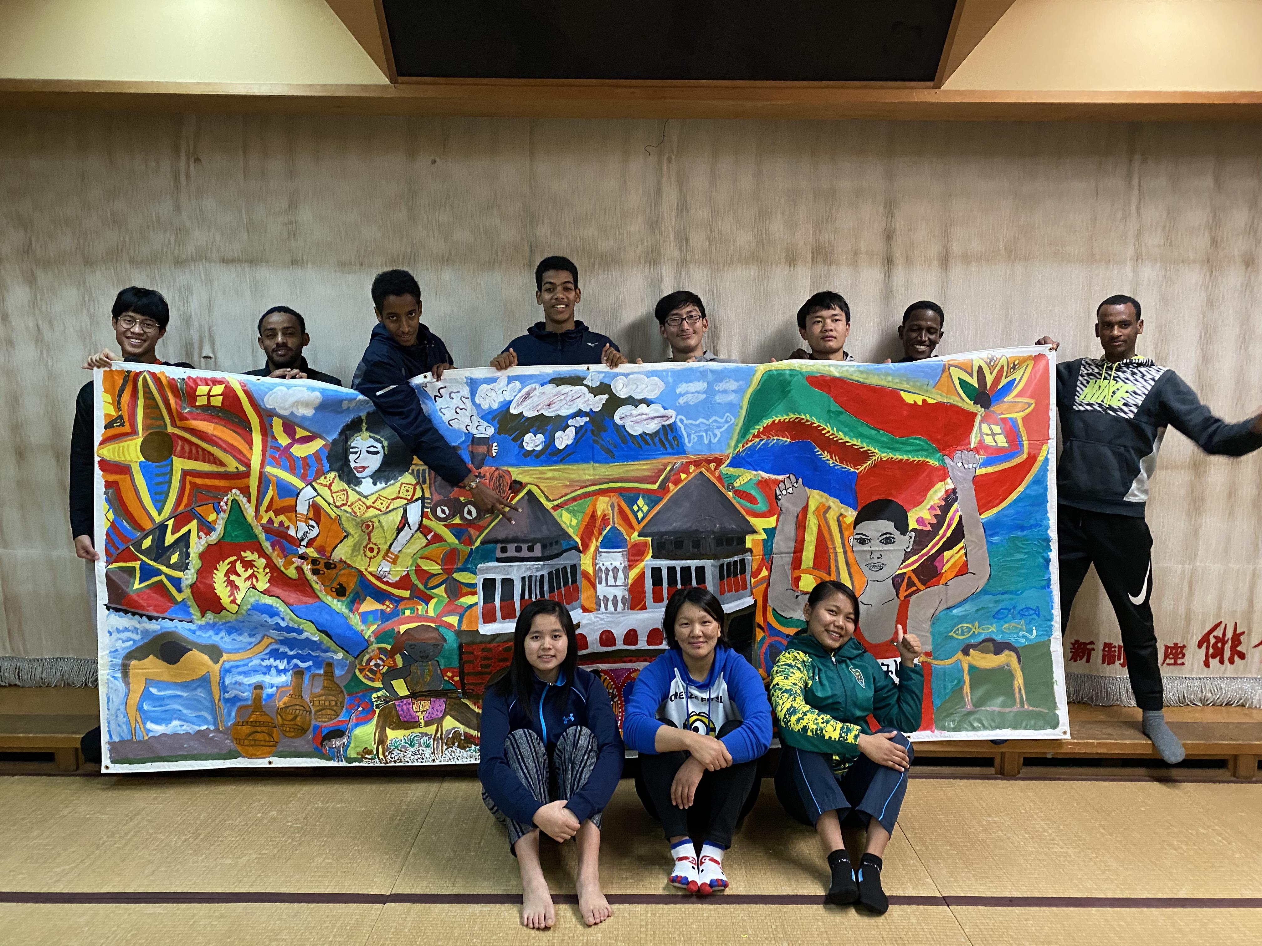 留学生の描いた作品がジャパンアートマイルホームページに掲載されました
