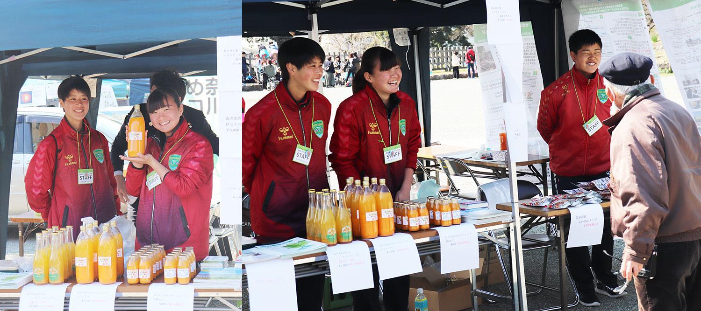 おひさまマルシェ2019に星槎国際湘南女子サーカー生徒がボタンティアで参加④